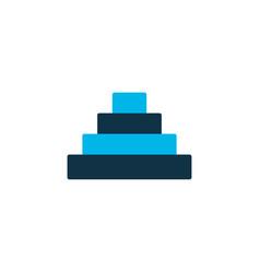 pyramid icon colored symbol premium quality vector image
