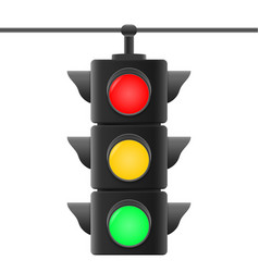 Realistic traffic lights vector