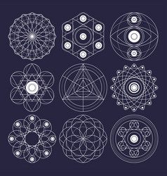 sacred geometry design elements non expanded vector image