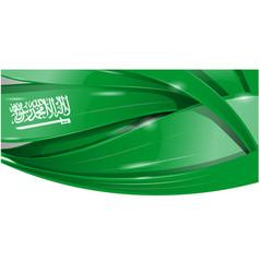 saudi arabia flag element background vector image