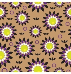 Seamless background with abstract flowers vector image