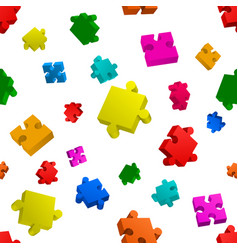 seamless puzzle on white background vector image