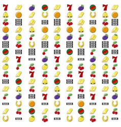 slot machine symbols set background vector image
