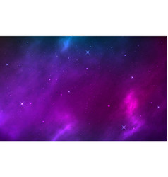 space background realistic with shining stars vector image