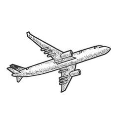 take off plane sketch vector image