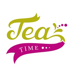 Tea time design vector image