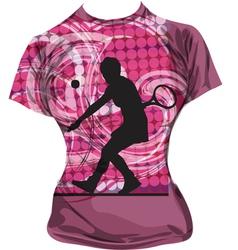 Tennis T-shirt vector