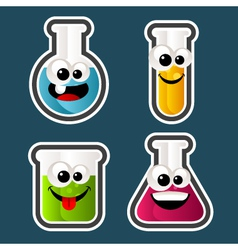 Test Tube Cartoons vector image