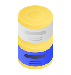 Tin can stack icon isometric style vector