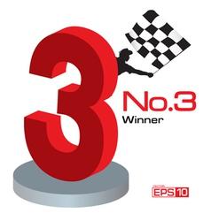 Trophy Winner Number 3 vector