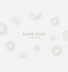 vintage invitation background vector image