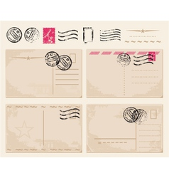 vintage postcards vector image