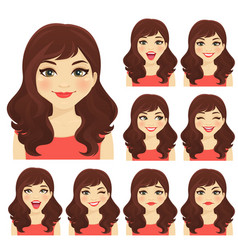 Womans emotion vector