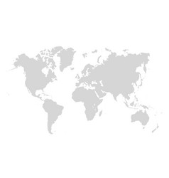 world map on white background map template vector image