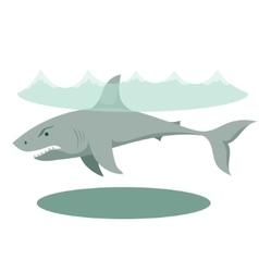 a large gray cartoon shark with vector image
