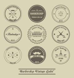 Barbershop vintage label design vector image vector image