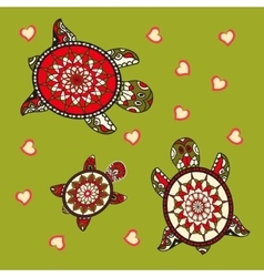Family of sea turtles vector image