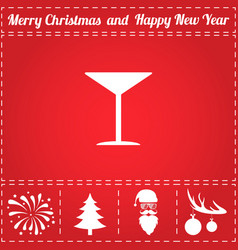 martini icon vector image
