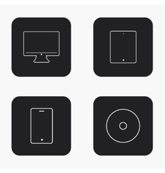 modern gadget icons set vector image vector image