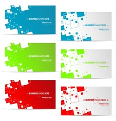 various business card design vector image