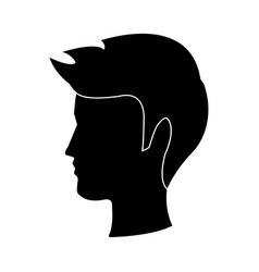 Young boy person portrait head male vector
