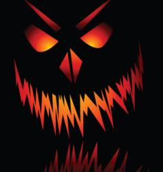 evil face vector image vector image