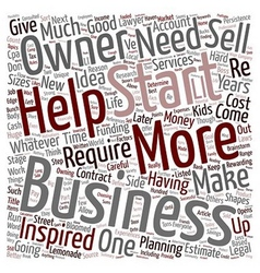 How to Start a Business text background wordcloud vector image