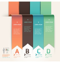 Modern arrow origami style options banner vector image
