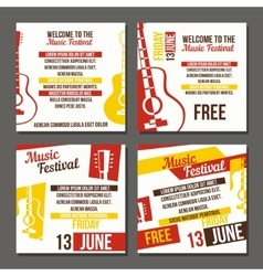 Set of musical flyers vector image