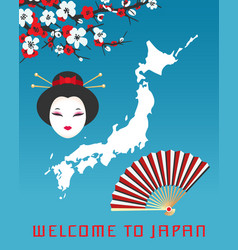 Welcome to japan poster template vector