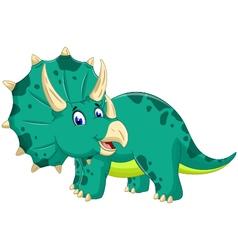 cute Triceratops cartoon posing vector image