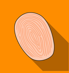 fingerprint icon in flat style isolated on white vector image