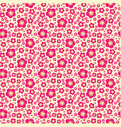 flower geometric seamless pattern fashion graphic vector image