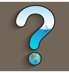 Global Warming Question vector image vector image