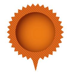Orange cloud circle chat bubble vector