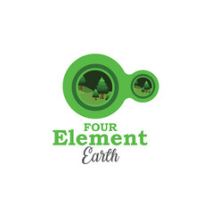 four element earth vector image vector image