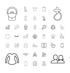 37 woman icons vector