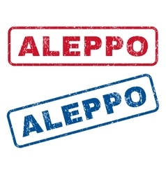 Aleppo Rubber Stamps vector image