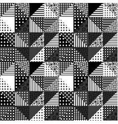 Black and white patchwork design vector