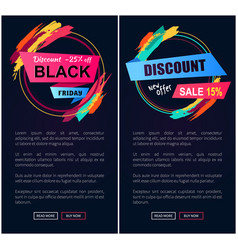 Black friday discount -25 off vector