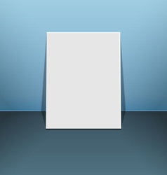Blank photo frame canvas on blue vector