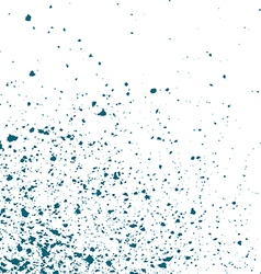 Blue light Ink paint splatter on white background vector image