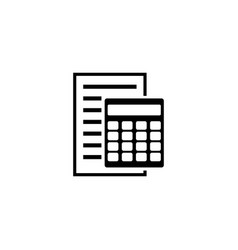 bookkeeping report and calculator accounting vector image
