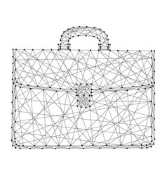 briefcase business from futuristic polygonal vector image
