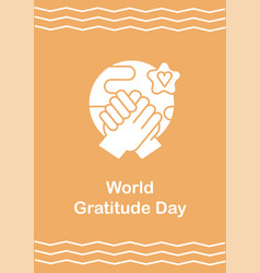 bringing whole world together greeting card with vector image