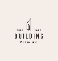 building hipster vintage logo icon vector image