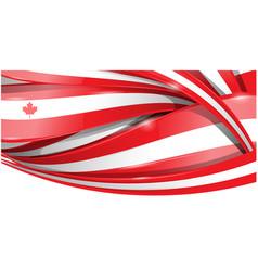 Canada banner background flag vector