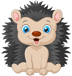 Cartoon sweet hedgehog vector