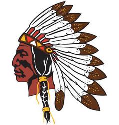 Chief logo mascot vector