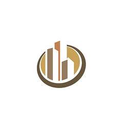 cityscape building construction logo vector image